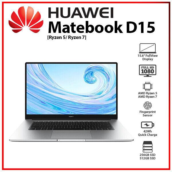 Laptop Windows - Huawei MateBook D15  Ryzen5 Ryzen7 Radeon RX Vega 10 Window Laptop 8GB+512GB SSD