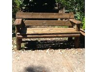Lovely rustic garden bench