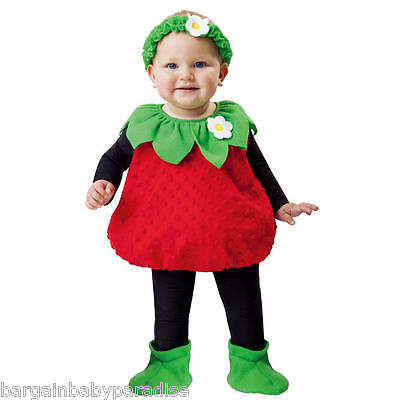 TOTALLY GHOUL Infant Toddler Plush Strawberry Costume 1-2 Years NWT (Strawberry Costume Baby)