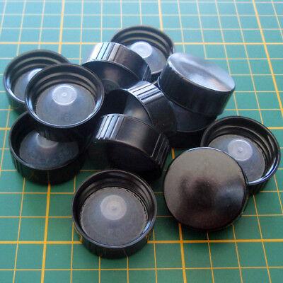 Dozen 12 28mm 28-400 Black Phenolic Plastic Cap Closure W Polyseal Cone Liner