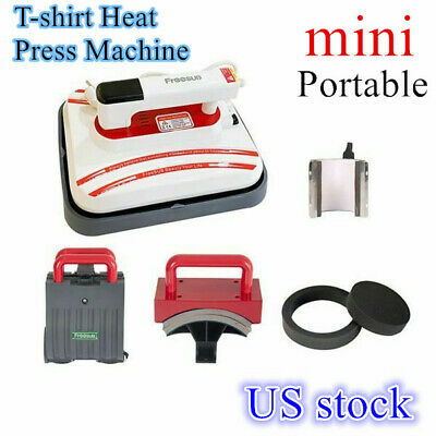 Us Portable Iron T-shirt Heat Press Transfer Printing Machine Mug Cap Heater
