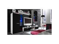 NEW!!! Modern Wall Unit SALSA / Entertainment TV Unit / Shelf / Hanging Cabinet with Glass