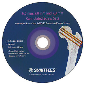 6.5 mm, 7.0 mm and 7.3 mm CANNULATED SCREW SETS SURGICAL CD