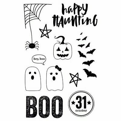 Happy Halloween Story (Simple Stories - Happy Haunting Collection - Halloween - Clear Stamps -)