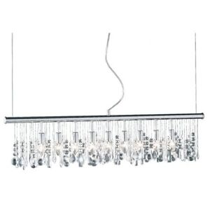 Suspended light with crystals