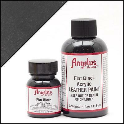Angelus Flat Black acrylic leather paint 1 oz. bottle