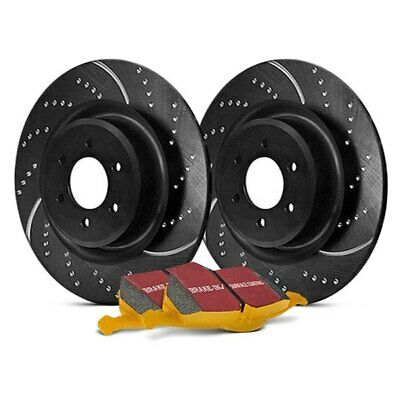 For BMW 850Ci 93-99 EBC Stage 5 Super Street Dimpled & Slotted Rear Brake Kit