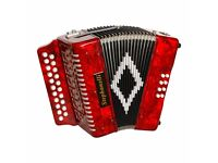 Stephanelli 2 Row Accordion Red or BK - B/C or D/G