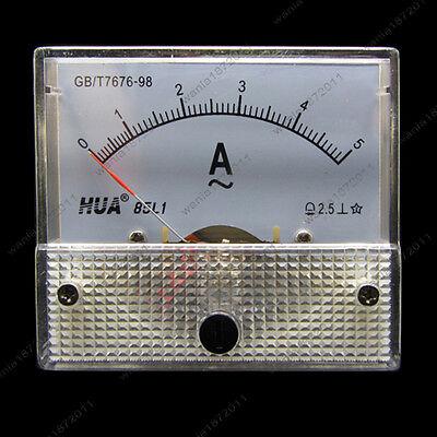 Ac 5a Analog Ammeter Panel Pointer Amp Current Meter Gauge 85l1 0-5a Ac