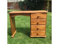 Pine dressing table or desk