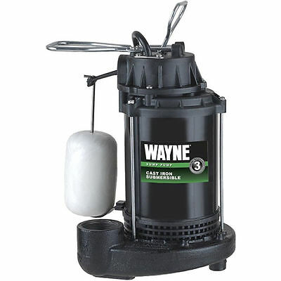 Wayne Cdu800 - 12 Hp Cast Iron Submersible Sump Pump W Vertical Float Switch