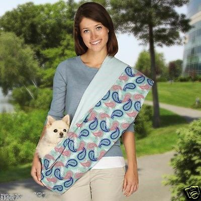 new lined Reversible Sling Pet Dog Cat double sided one size Pet carrier