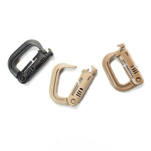 ITW-MOLLE-II-Nexus-Grimloc-D-Ring-Carabiner-2-Pack-Choose-Your-Color