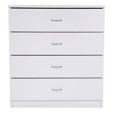 4-Drawer Home Use Dresser Bedroom Bedside Table MDF Wood Organiser Cabinet