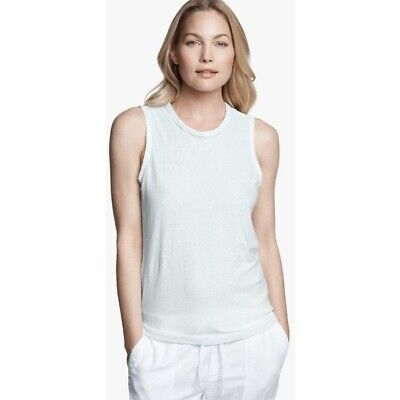 JAMES PERSE Cotton Linen Sky Blue Tomboy Tank In Size 1 Small WYH3581