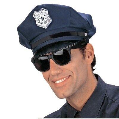 HUT POLIZIST Karneval Kostüm Mütze Cop Polizei Uniform (8427)