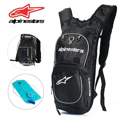 ALPINESTARS White Hydration Water Bag Pack Cycling Camping 2L Bladder Backpack