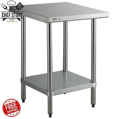 24 X 24 304 Stainless Steel Commercial Work Prep Chop Table 18 Gauge 300 Lb