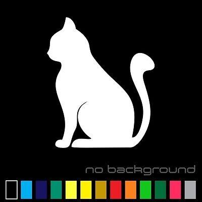 Cat Sticker Vinyl Decal - Kitten Silhouette Pet Animal Kitty Car Window Bumper