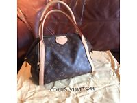Louis Vuitton genuine leather marais tote bag and dustcover