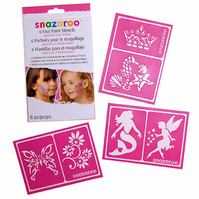 Snazaroo Face Paint Re-Use Stencils Girls 1198014