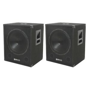 QTX-Sound-QT15SA-Active-Powered-Subwoofers-DJ-PA-Sub-Speakers-PAIR