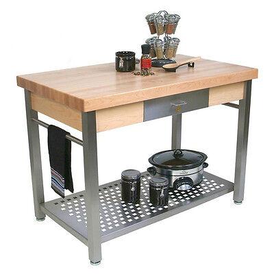 John Boos Cucg20 Cucina Grande Wood Top Work Table 48w X 28l X 35h
