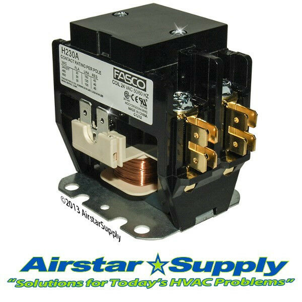 Carrier Replacement Contactor - 2 Pole • 30 Amp • 24V Coil - Compressor / Motor