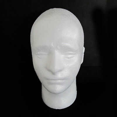 Male Mannequin Salon Doll Foam Manikin Head Model Glasses Display Stand Hot Sale