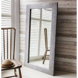 1 x Chilson Concrete Resin Frame Leaner Mirror W850 x H1665mm by Gallery Direct