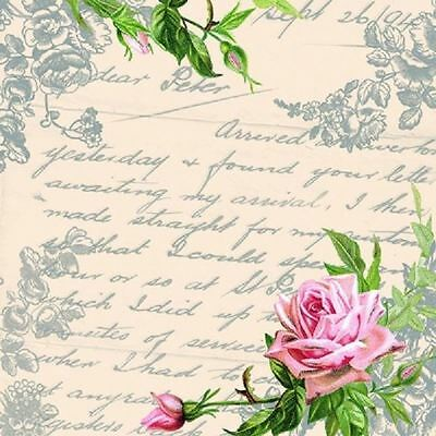 4 x Paper Napkins - Love Letter - Ideal for Decoupage / Napkin Art