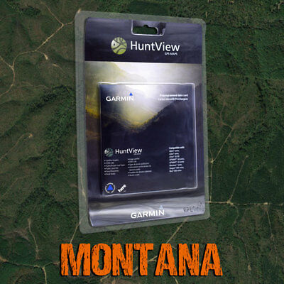 Garmin HuntView Maps - Montana - Topo for Alpha, Astro, eTrex, GPSMAP, Rino