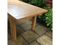 100% Solid Oak, Extending Dining Table, Never Used.