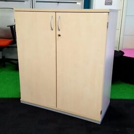 Mid height wooden filing/storage cupboards
