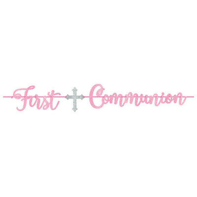 First Communion Ribbon (FIRST COMMUNION GIRLS Ribbon BANNER Party Decorations Religion Church)