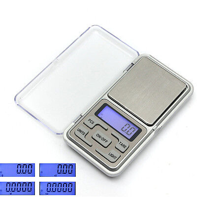 0.1g-500g Digital Pocket Weighing Mini Scale Gram Gold Coin Kitchen Jewelry Herb