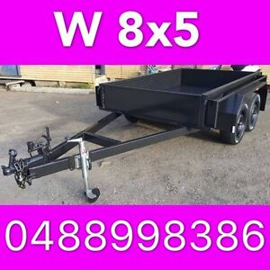 8x5 TANDEM TRAILER HEAVY DUTY 2ton FULL CHECKER PLATE LOCAL MADE South Windsor Hawkesbury Area Preview
