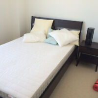 Trysil Bed Frame + Hafslo mattress + Accessories