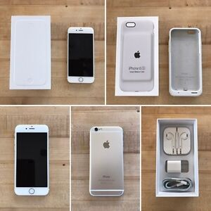 iPhone 6 - 64GB - Gold - locked to rogers & battery case