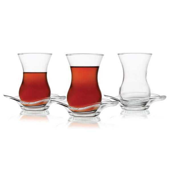 12 Stck Teeglass  mit Griff Teegläser Cay Bardagi Tee Glas Türkisch Tee