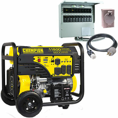 Champion 100110 - 9200 Watt Electric Start Portable Generator W 50-amp Power...