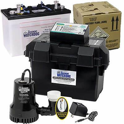 Basement Watchdog Special Backup Sump Pump 1850 Gph 10 Battery