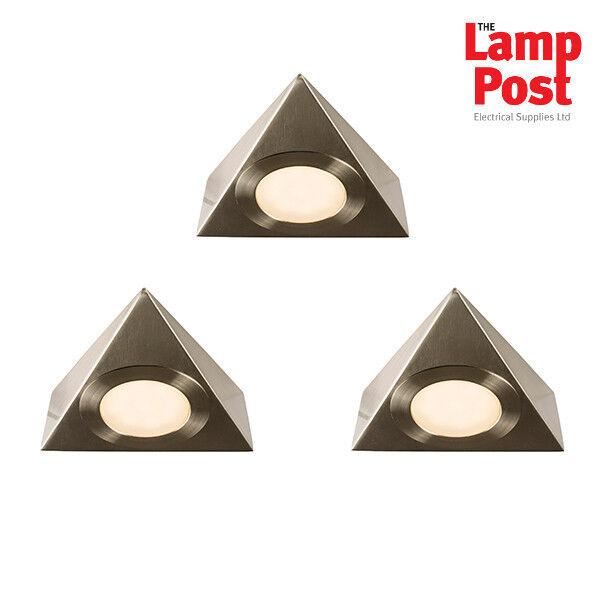 Saxby 59877 Nyx Satin Nickel Under Cabinet Display Warm White LED Light Kit