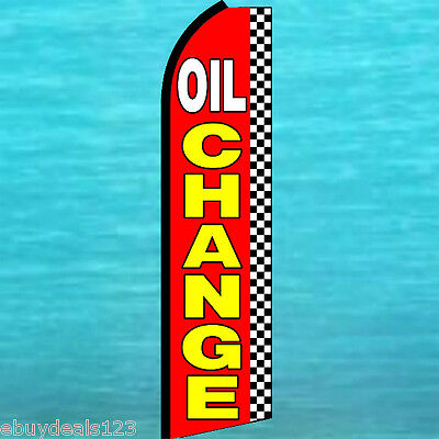 Oil Change Flutter Flag Auto Repair Advertising Sign Feather Swooper Banner 1500