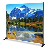 BANNER / BACKDROP 8ftx8ft  Printed/with stand rental