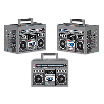 1980's 80's Decade Theme Party BOOM BOX FAVOR BOXES / DECORATIONS (80s Party Themes)