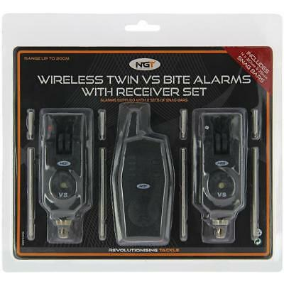 2pc Bite Alarms Wireless Set With Transmitter Receiver Snag Ears VS NGT