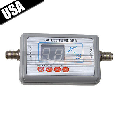 Satlink SF-9505 Digital Satellite Signal Finder Directv Meter LCD Buzzle for TV