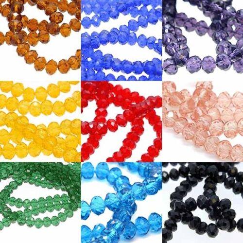 1000 Perles Rondelles Cristal Verre à Facettes 4mm Dia.