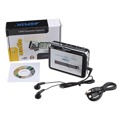 Portable Cassette Audio Music Player Recorder Tape-To-MP3 Converter w/ Earphones Tape Players Recorders